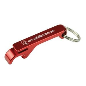 Aluminum Bottle Opener w/ Key Ring