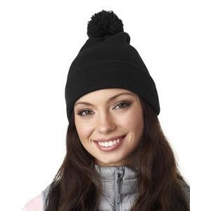 ULTRACLUB Adult Knit Pom-Pom Beanie with Cuff