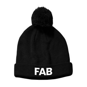 Sports Poms Poms Beanie Hat