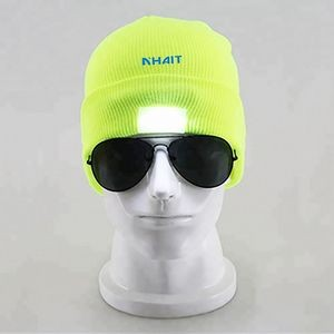 Led Beanie Hat With Light