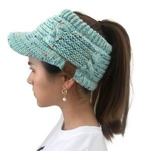 Empty Ponytail Knit Cap