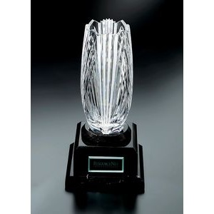 Fine Lead Crystal Aria Award w/ Marble Base