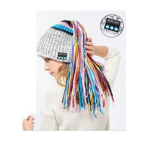 Ladies Bluetooth Music Beanie Bluetooth Music Hat with Tail