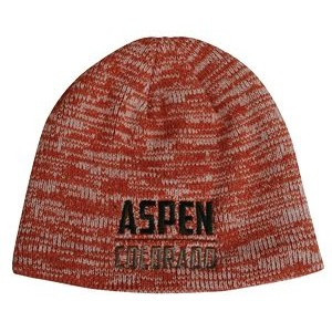Acrylic Heather Knit Beanie w/Lining