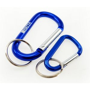 Laser Engraved Carabiners w/ Split Ring w/Next Day Service