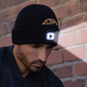 Acrylic, Cuff Toque with LED light