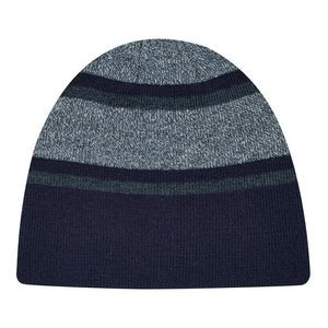 Marl/Stripe Rib Knit Board Cap