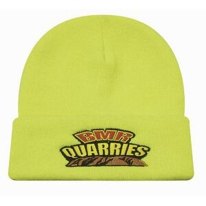 Luminescent Safety Beanie Acrylic Hat (Embroidered)
