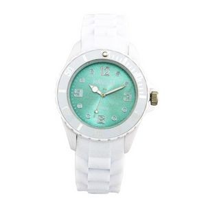 Sports Silicone Analog Wrist Watch- Light Blue Face