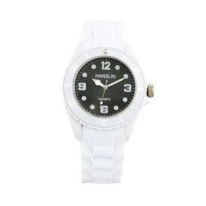 Sports Silicone Analog Wrist Watch- Black Face