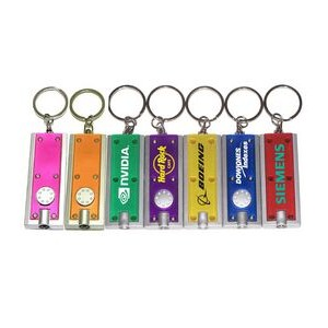 Slim Rectangular Flashlight with Swivel Key Chain