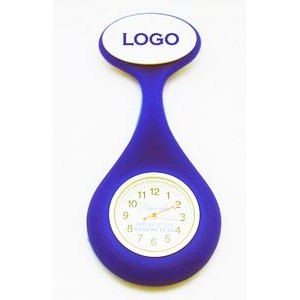 Silicone Oval Fob Nurse Watch